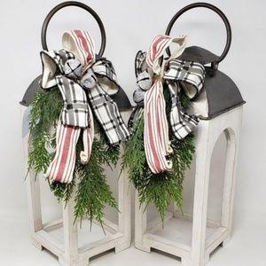Set of 2 Southern Living White Washed Lanterns